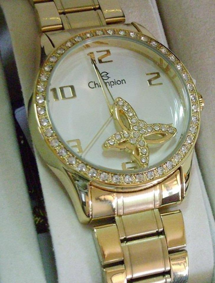 4662b7e65 Relogio Champion Feminino Dourado 50 Metros Cn28571h Passion - R  219