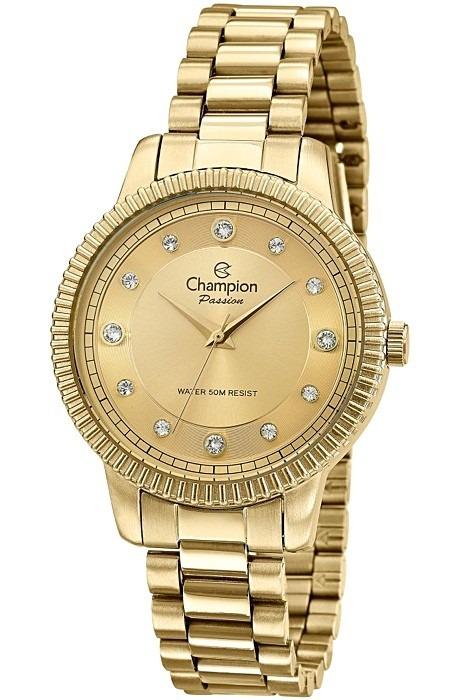677089689 Relógio Champion Feminino Dourado 50 Metros Cn29829g - R  198 ...