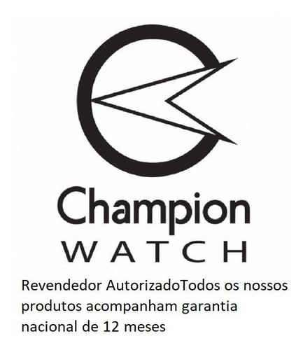 relógio champion feminino dourado banhado kit colar brincos