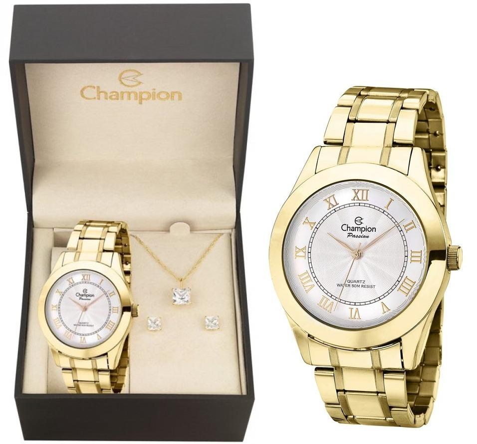 d0e9266dfde relógio champion feminino dourado ch24544w + nf + kit brinde. Carregando  zoom.