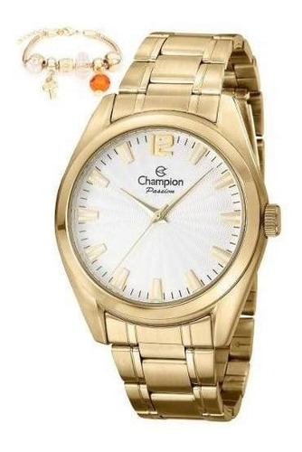 relogio champion feminino dourado cn29865s com berloque (pulseira) promoção