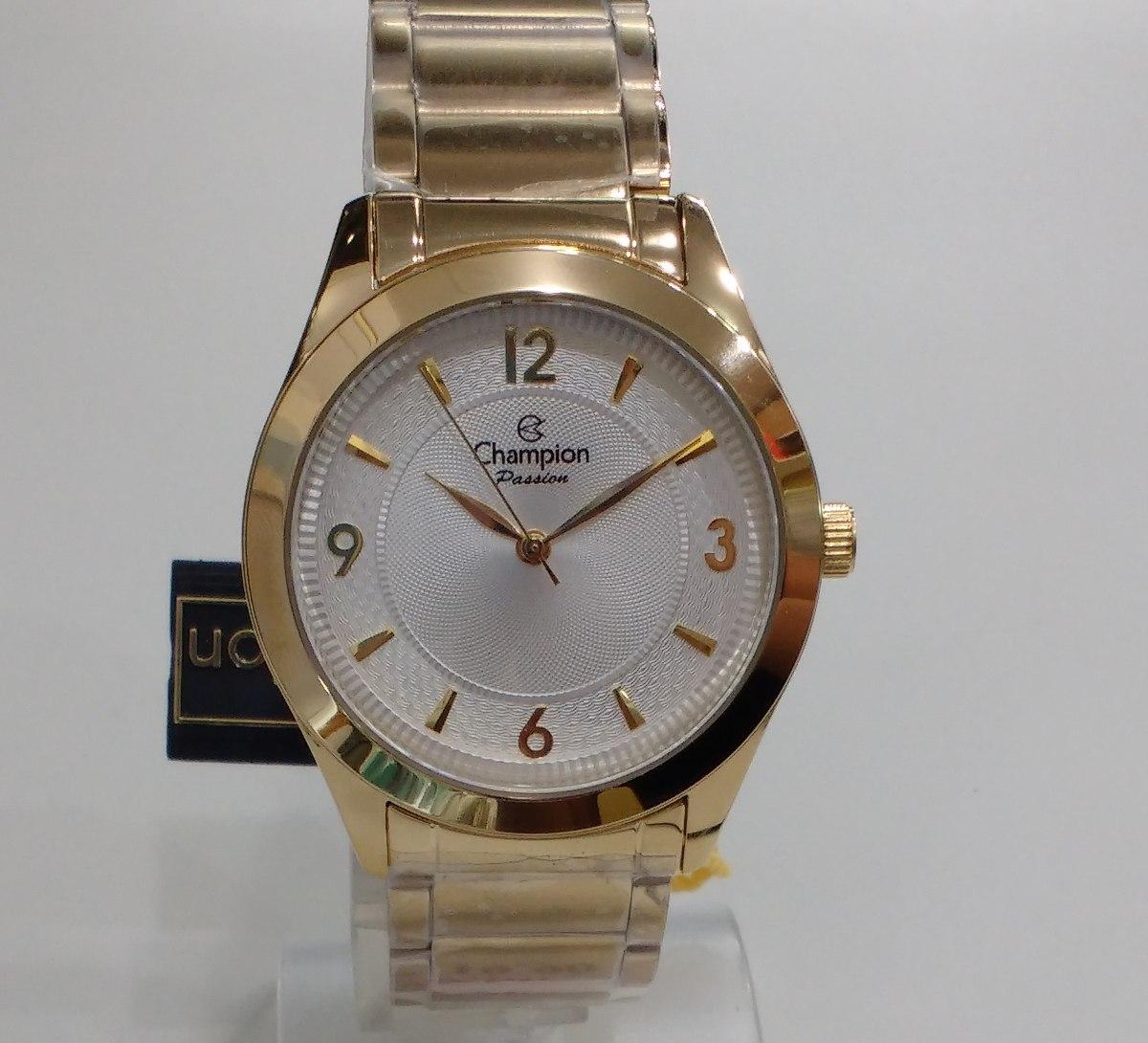 59ebc74b39a relógio champion feminino dourado passion cn28866h + nf. Carregando zoom.
