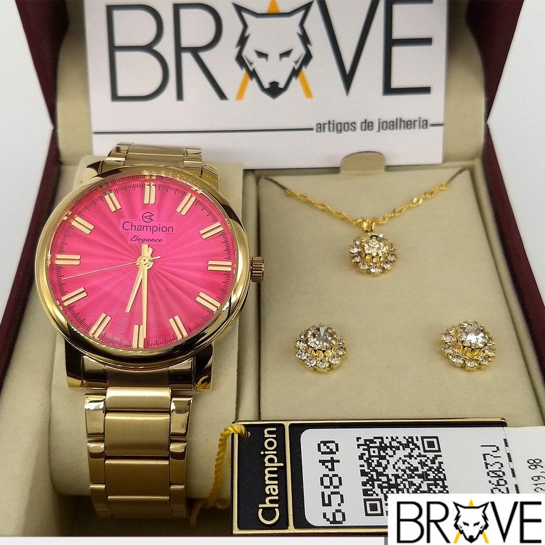 d6724df1601 relógio champion feminino dourado rosa original garantia. Carregando zoom.