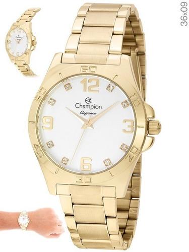 relógio champion feminino elegance cn28446w original com nf
