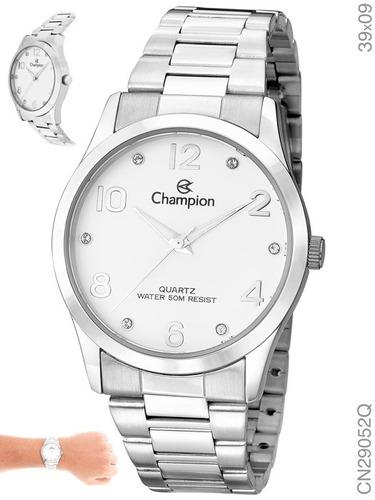 relógio champion feminino original cn29052q + n. fiscal