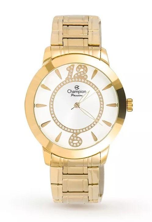 cce3e219f8 Relógio Champion Feminino Passion Ch24259h Dourado - R  199