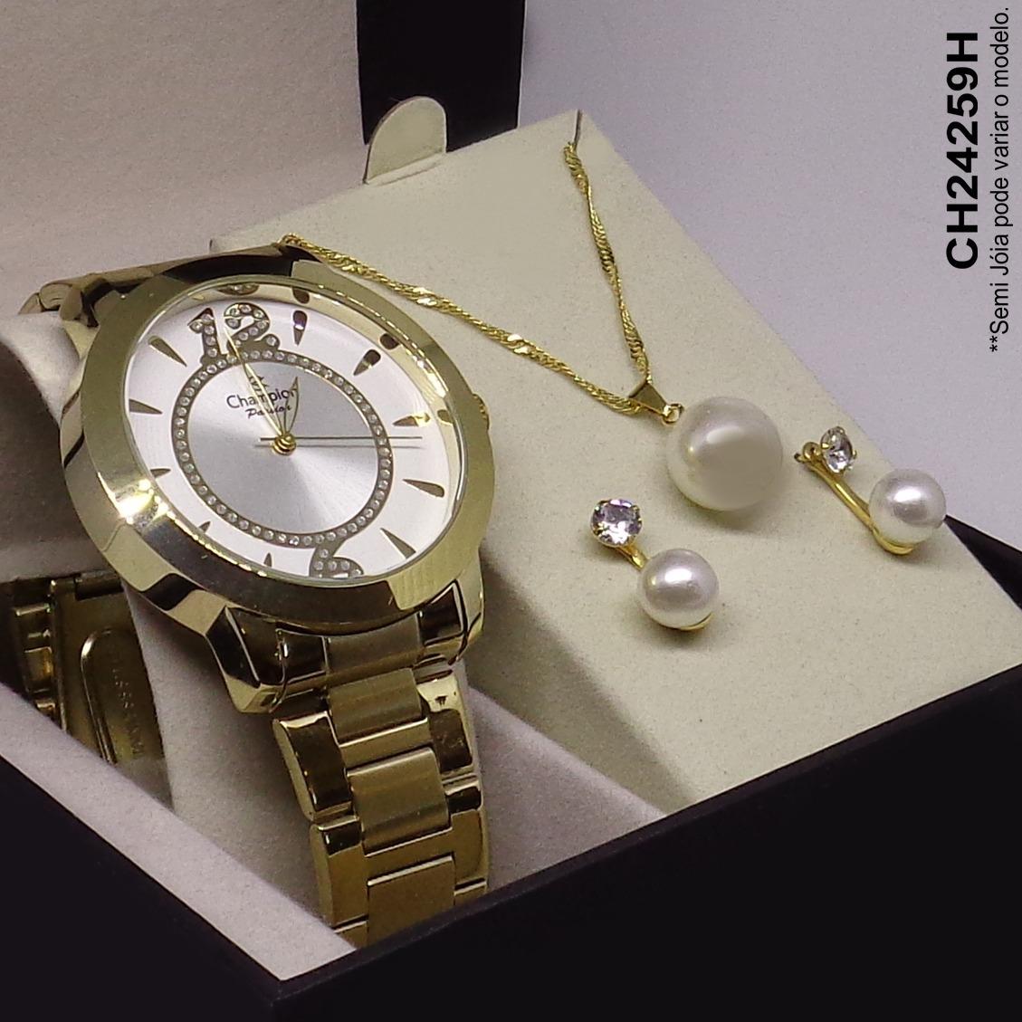 88d53295498 relógio champion feminino passion ch24259h + kit brinde vip. Carregando  zoom.