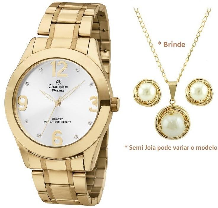 d1736333cb5 Relógio Champion Feminino Passion Ch24268h + Kit Brinde Top - R  179 ...