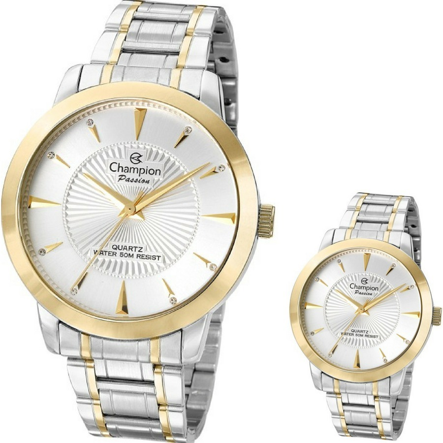 ca606d20044 relógio champion feminino passion prata dourado cn29258s. Carregando zoom.