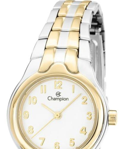 relógio champion feminino pequeno prova d'água ch28960b