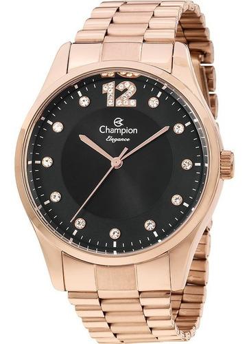 relógio champion feminino rosê cn25743p original