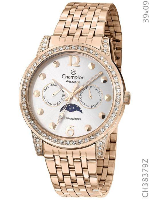 94320073160 Relógio Champion Feminino Rose Ch38379z Multi Funcional - R  210