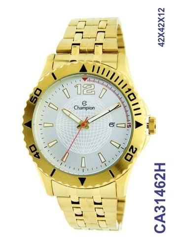 relógio  champion maculino ca31462h dourado