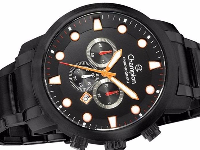 f0688fbb6b1 Relógio Champion Masculino Crono Aço Ionizado Ca30481j -- - R  429 ...