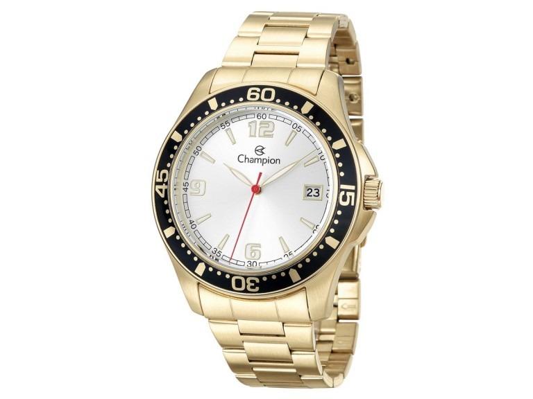 9813fe3654b Relógio Champion Masculino Dourado Analógico Mod  Ca31248h - R  278 ...