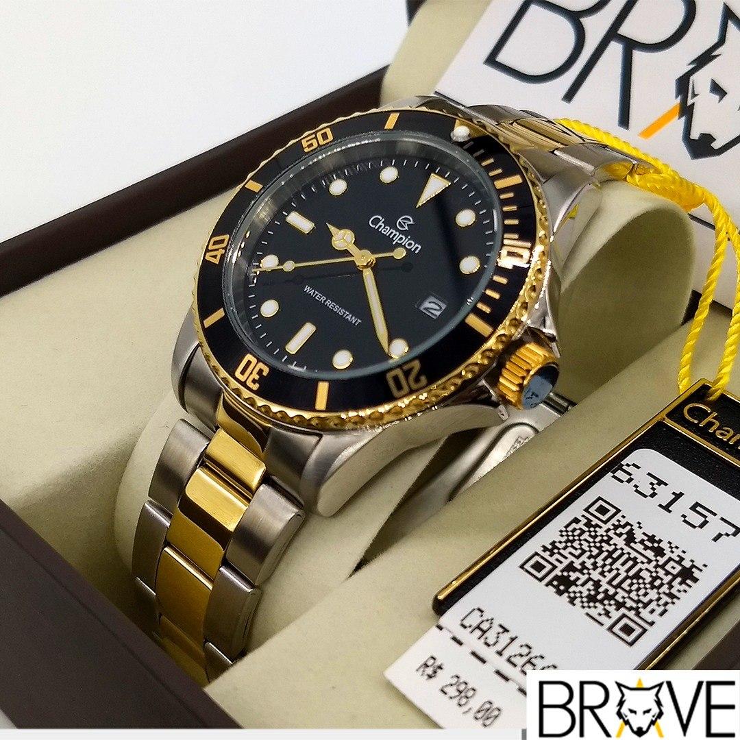 858749f87e9 relógio champion masculino dourado prata preto original top. Carregando  zoom.