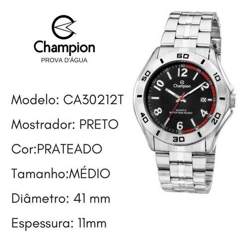 relógio champion masculino original prova d'água ca30212t