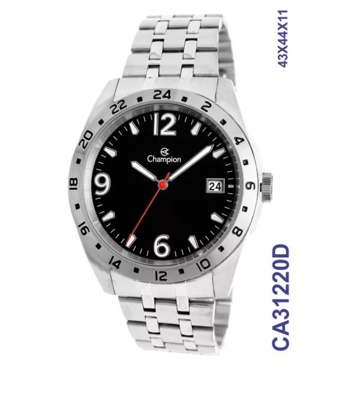 54501255819 Relógio Champion Masculino Prata E Preto Promoção Ca31220d - R  179 ...