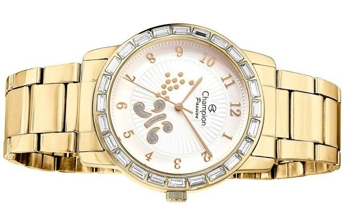 ab7962fe5 Relógio Champion Passion Feminino Dourado 50 Metros Cn29356h - R ...
