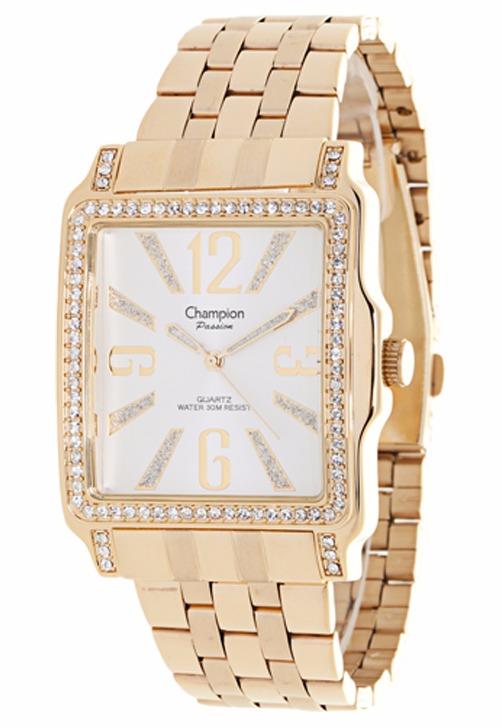 34b987b17e3 Relógio Champion Passion Feminino Dourado Branco Ch24222h - R  169 ...