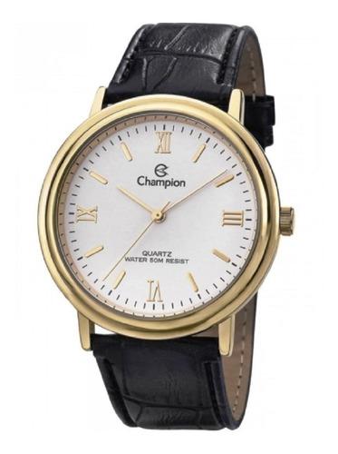 relógio champion pulseira couro cn20051b otima oferta