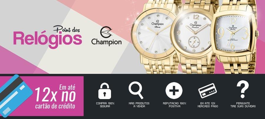 14078176956 Relógio Champion Yot Cp40180x Avulso 1 Relogio Fundo Azul - R  139 ...