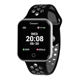 Relógio Champion Smartwatch Bluetooth 4.0 Prata Preto/cinza