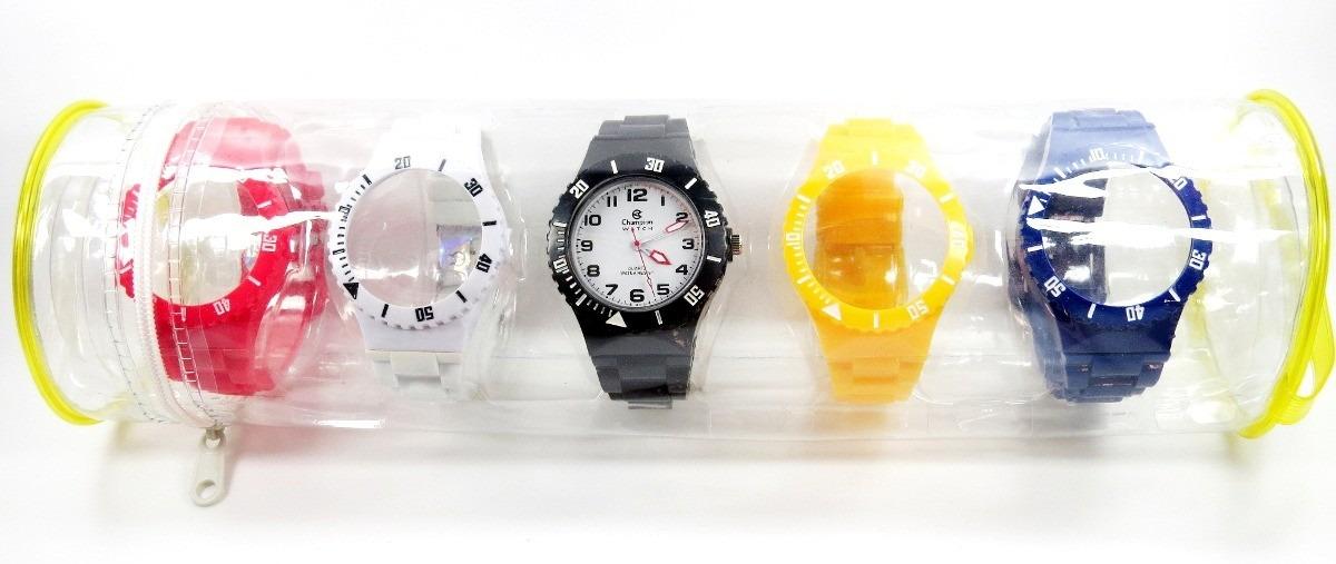 4c52ea70c9a relógio champion watch 5 pulseiras com calendário. Carregando zoom.