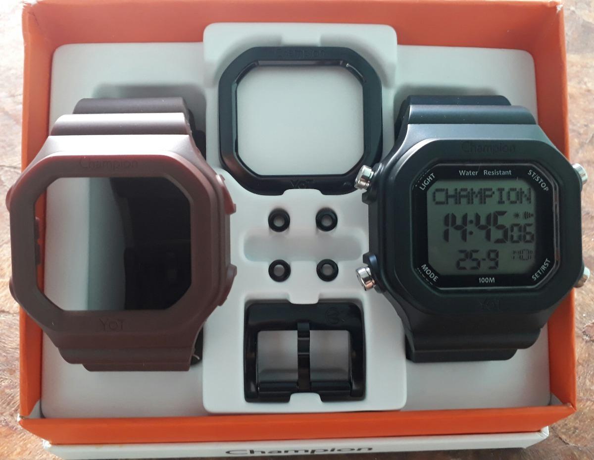 621c6ba818c Relógio Champion Yot Cp40180x Kit Marrom Preto Peças Preta - R  148 ...