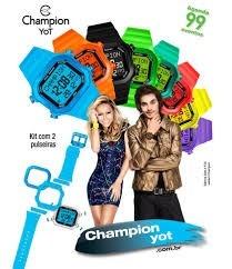 9455b7cf760 Relogio Champion Yot Cp40180x Kit Preto Transparente Dourado - R ...