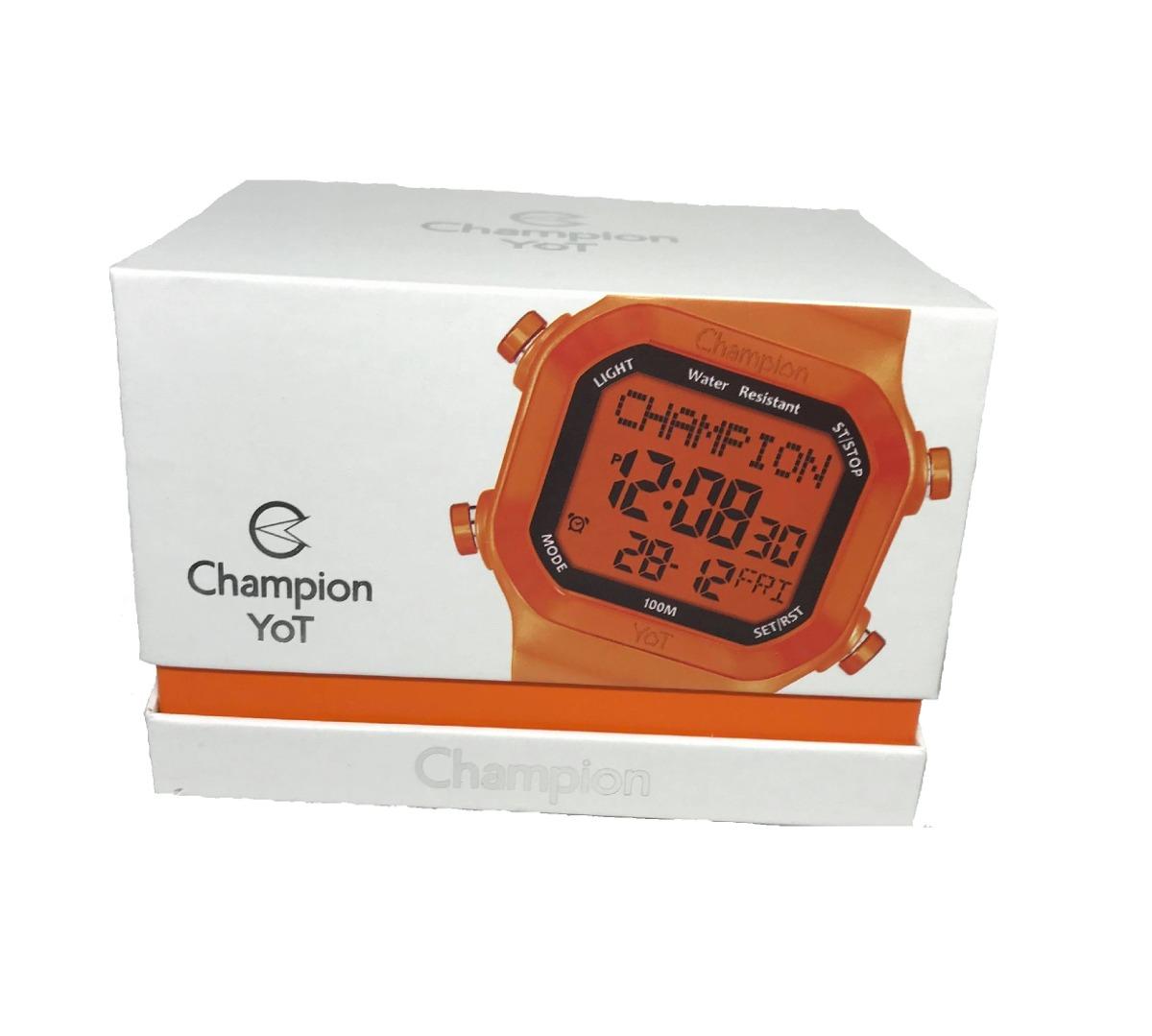 fa4db21c4c3 relogio champion yot digital quadrado troca pulseira. Carregando zoom.