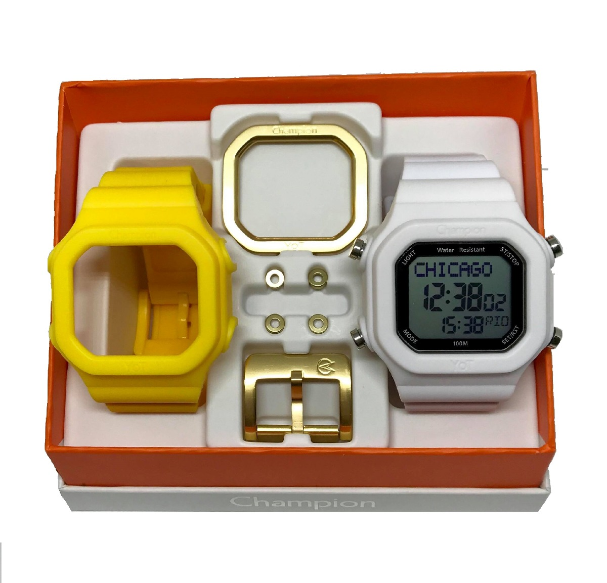 bfa193c9055 relogio champion yot digital quadrado troca pulseira. Carregando zoom.