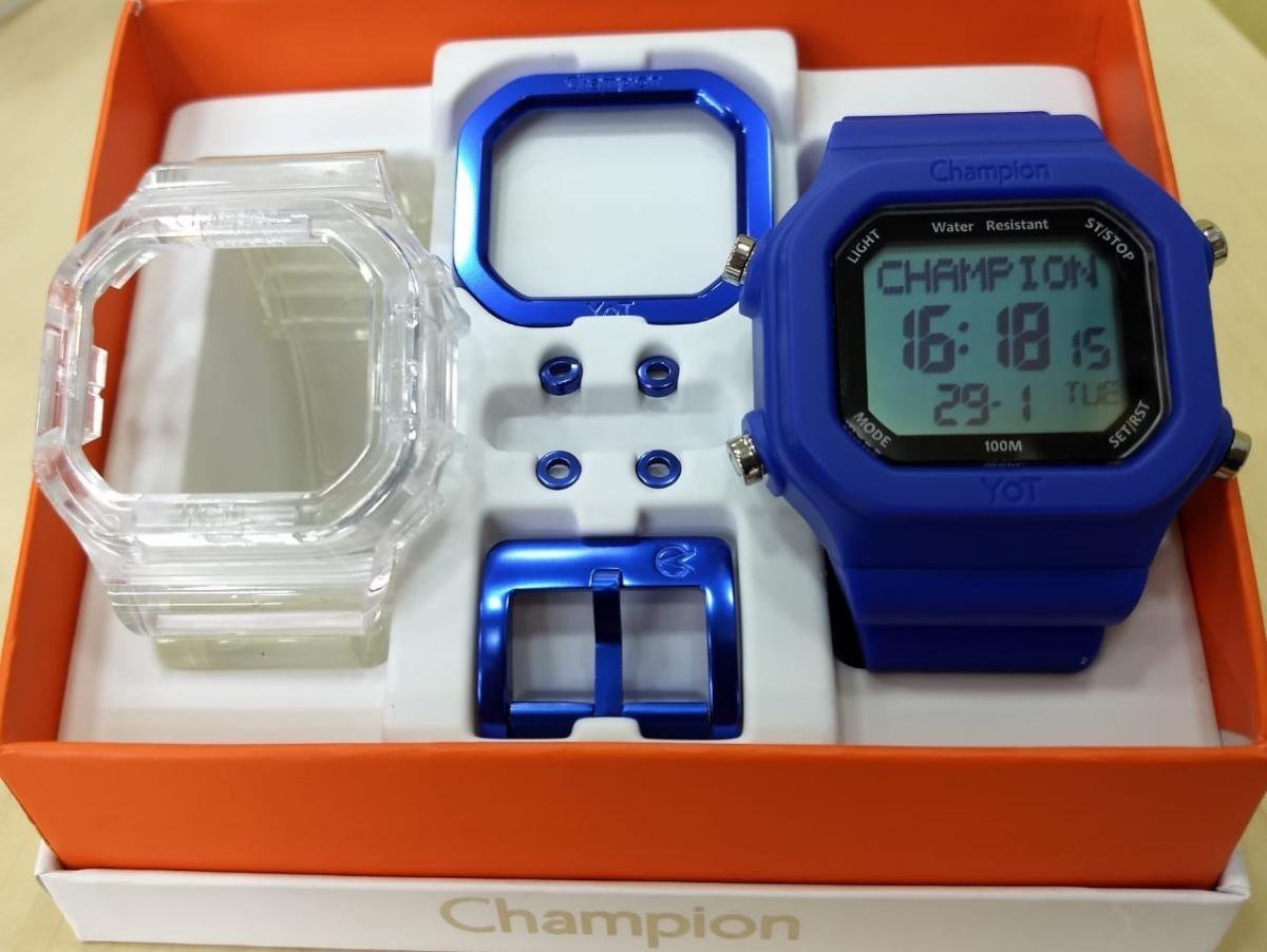 6823f696f28 relógio champion yot fd azul cp40180x original kit promoção. Carregando  zoom.