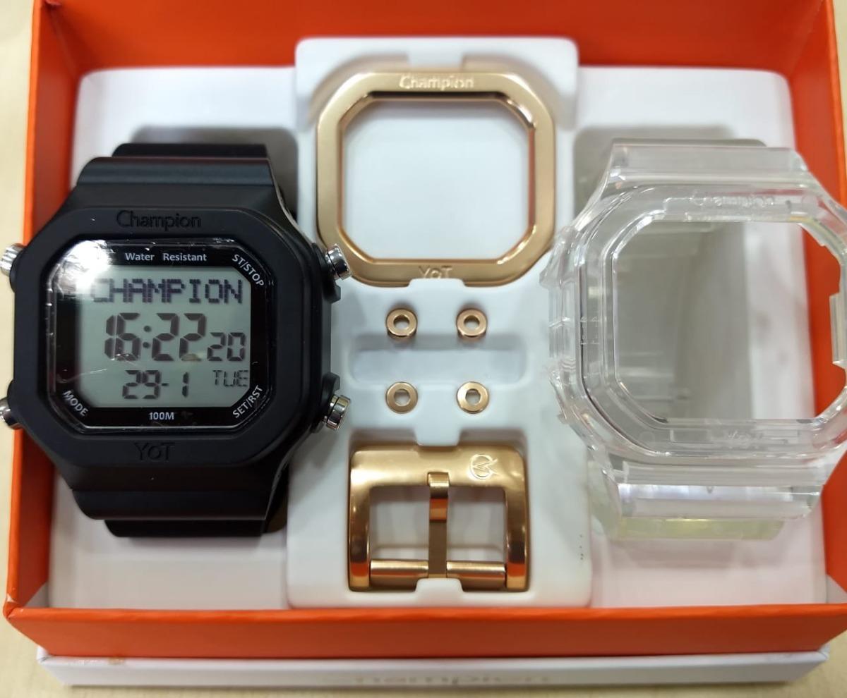 4e47baf9069 relógio champion yot troca pulseiras original n.f frete grat. Carregando  zoom.