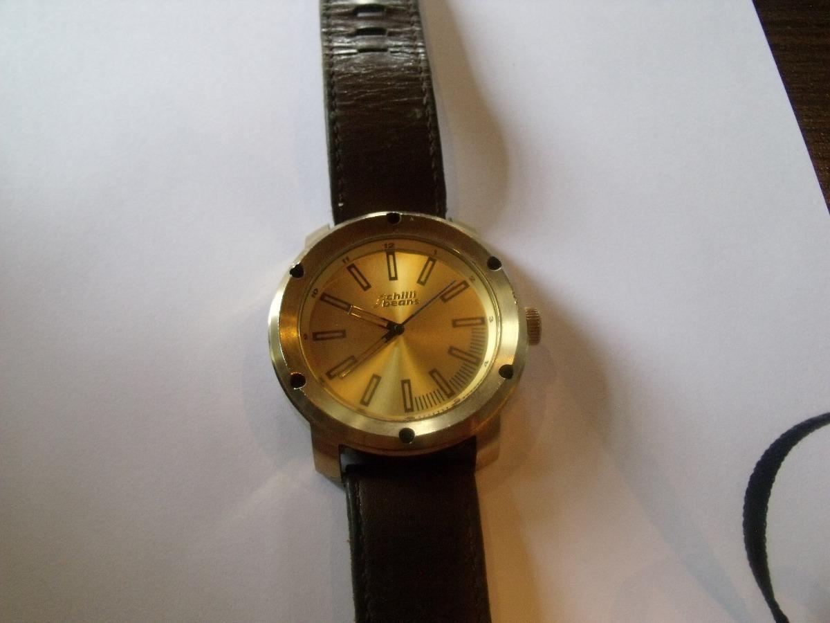 084b7ecb566 relógio chilli beans dourado couro original. Carregando zoom.