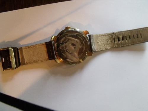relógio chilli beans dourado couro original