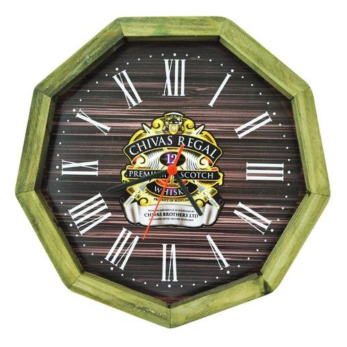 relógio chivas regal madeira pinus area de lazer