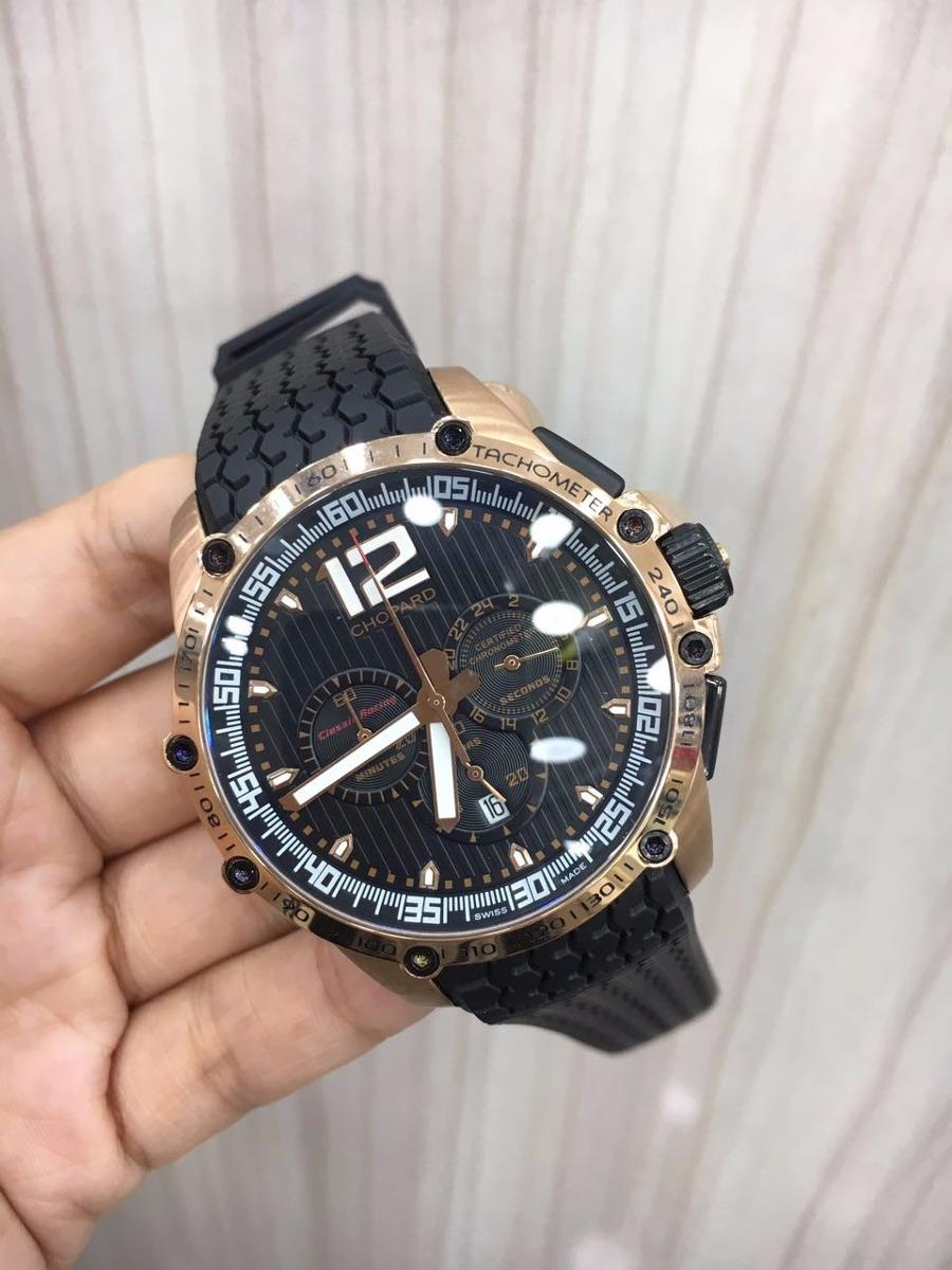 8a74423b607 relógio chopard classic racing rose mostrador preto borracha. Carregando  zoom.