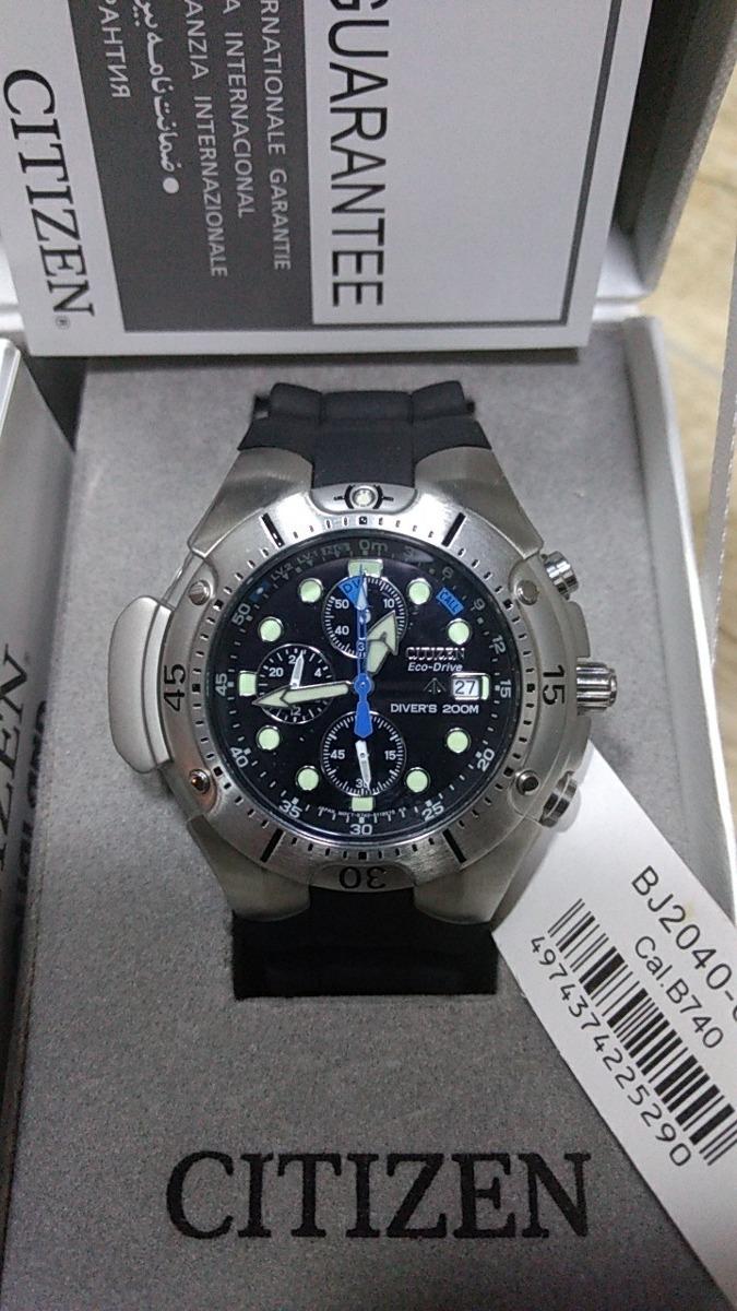 811221008b3 relógio citizen aqualand eco-drive bj2040-04f. Carregando zoom.