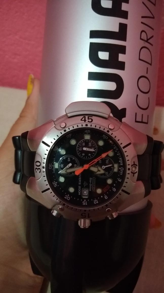 3f57c19743b relógio citizen aqualand eco drive - bj2040. Carregando zoom.