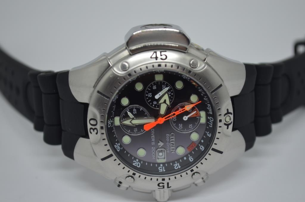 e5bbe6f4c89 relógio citizen aqualand eco drive bj2040 - mostrador preto. Carregando zoom .