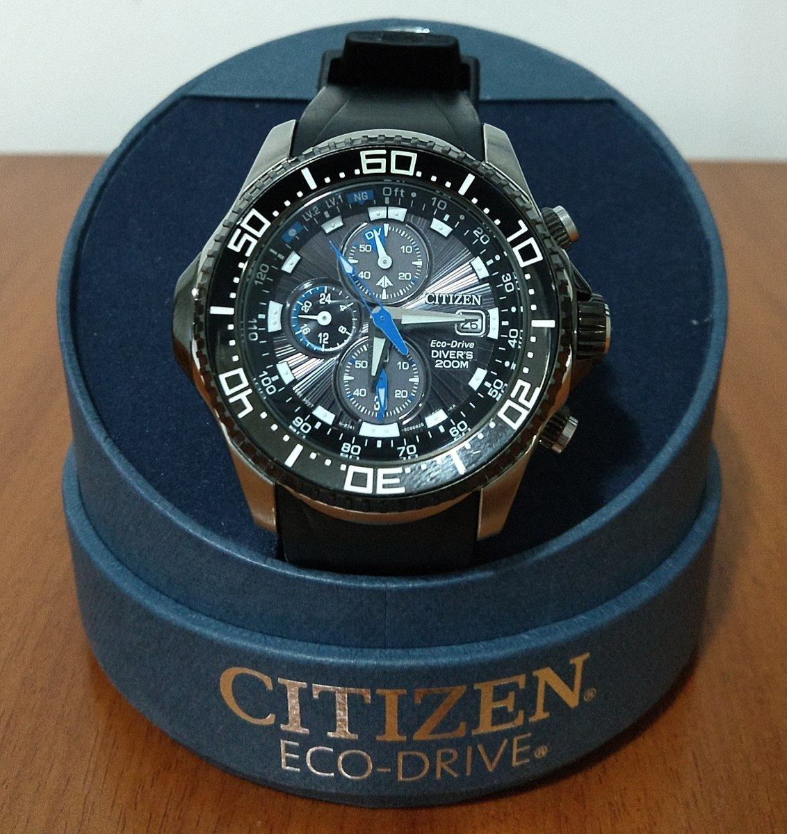 3ada0851765 relógio citizen aqualand eco drive bj2110-01e. Carregando zoom.
