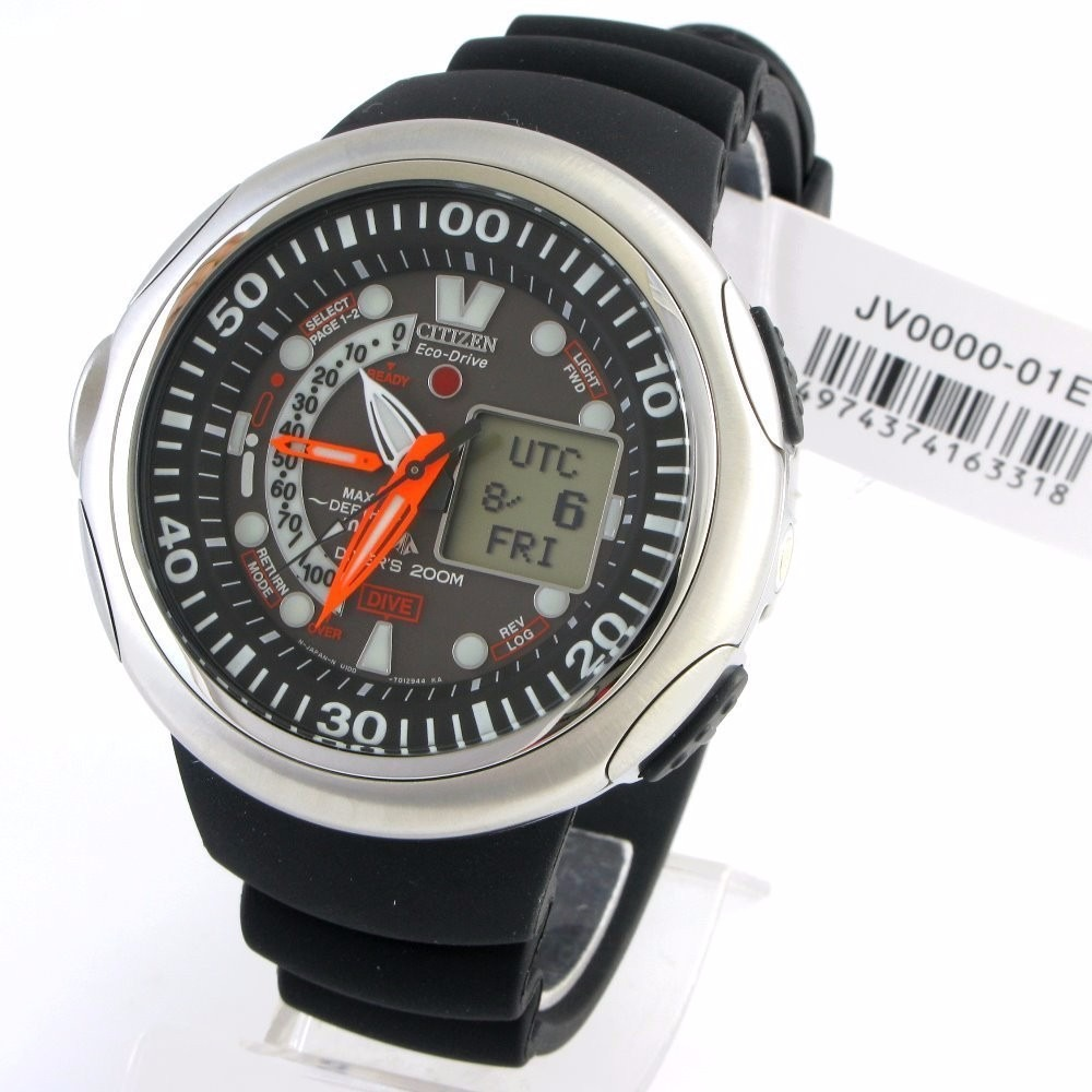 e0fd384fa29 relógio citizen aqualand eco-drive jv0000-01e meia lua cheia. Carregando  zoom.
