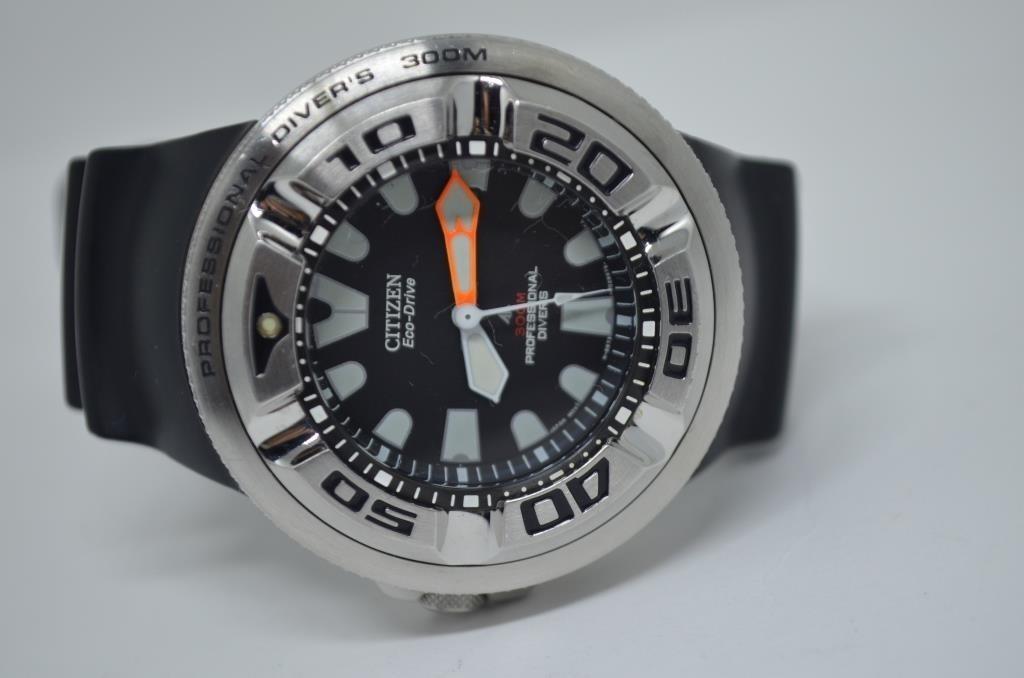 44d96a332f0 Relógio Citizen Aqualand Ecozilla Bj8050-08e Aço Inox Scuba - R ...