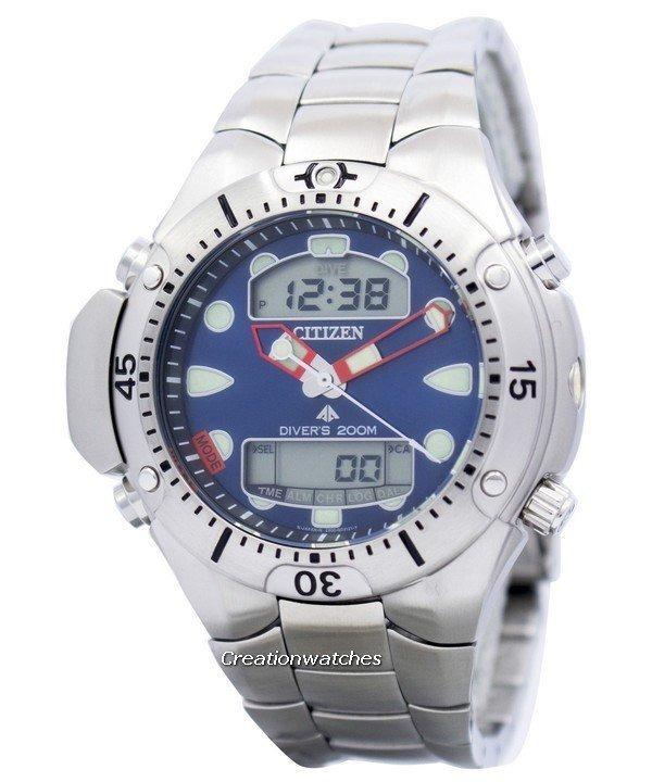 9da81ef02a6 Relógio Citizen Aqualand Ii Jp1060 52l Fundo Azul Original - R ...