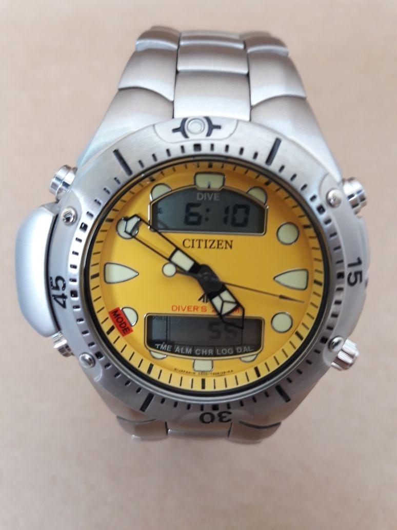 11ea26755a1 relógio citizen aqualand jp1060-52x pulseira aço. Carregando zoom.