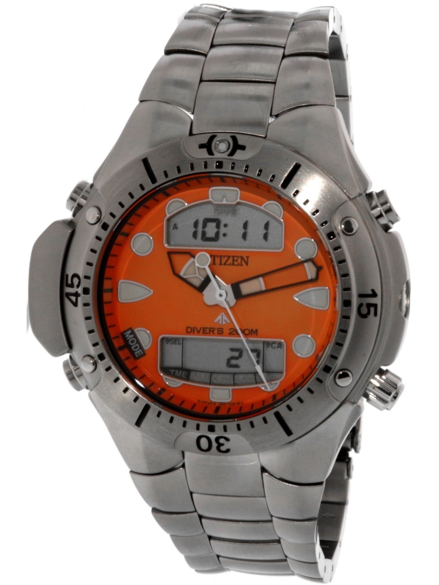 f739c975ab7 relógio citizen aqualand jp1060 fundo laranja. Carregando zoom.