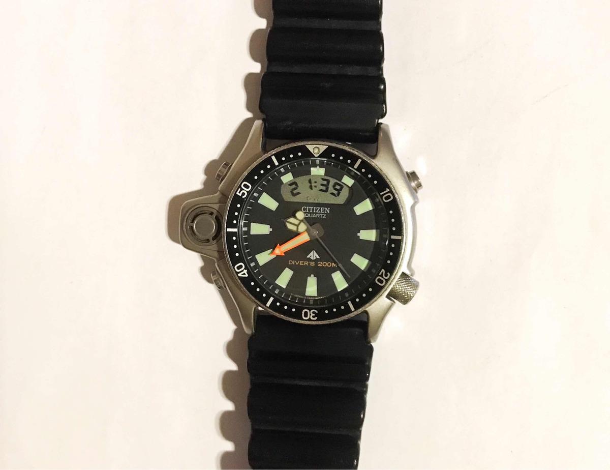 68a40893853 relógio citizen aqualand jp2000-08e   tz10137t série prata. Carregando zoom.