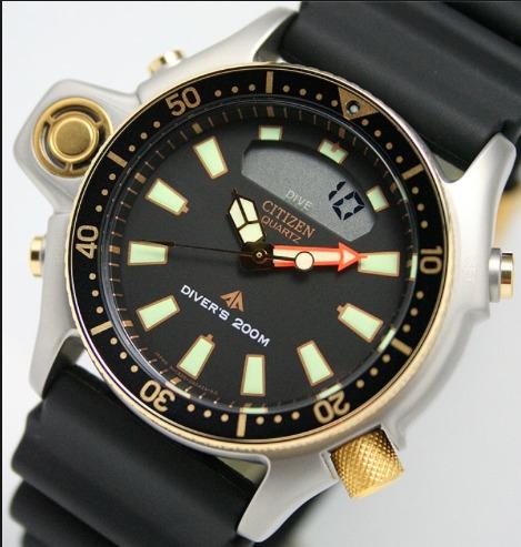 975fdd5fb62 Relogio Citizen Aqualand Jp2004-07e Ouro Em 12x S  Juros - R  1.749 ...