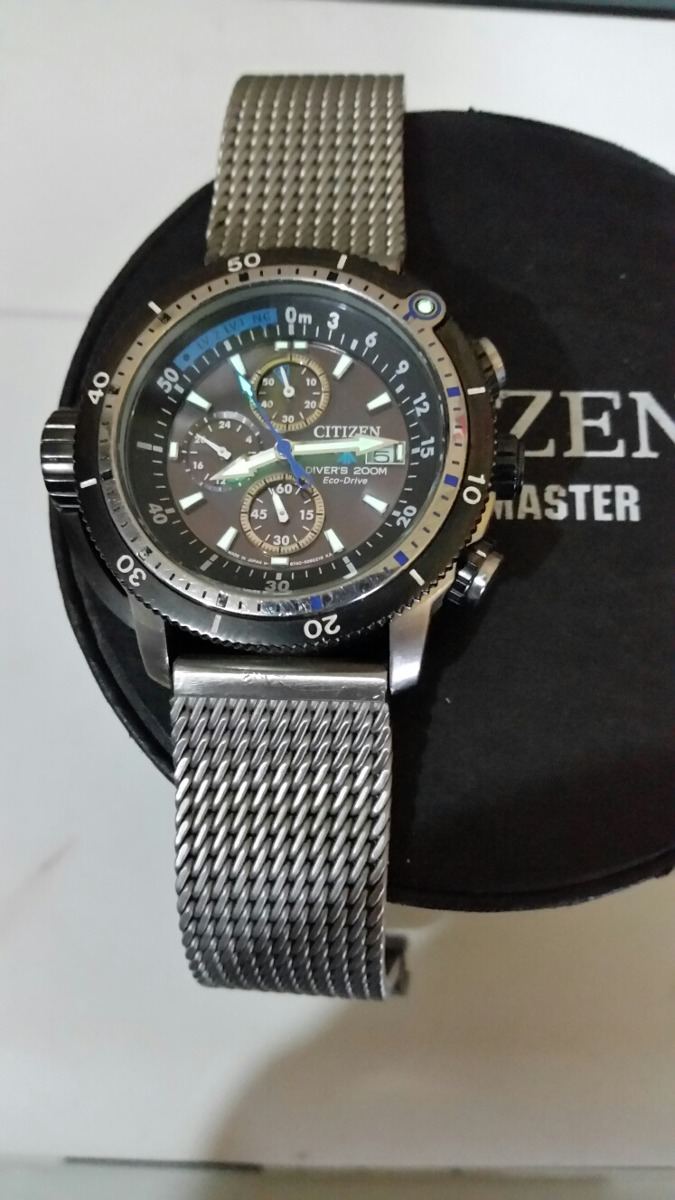 bf9aa1da34d relogio citizen aqualand modelo b 740 eco drive 200mts. Carregando zoom.